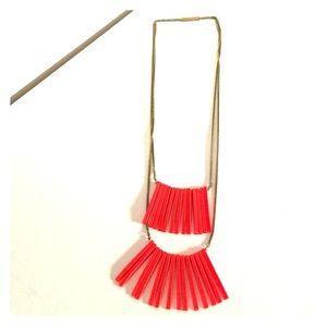 H&M Coral Fringe Necklace